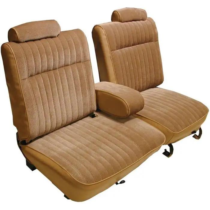 Marvelous El Camino Seat Cover 60 40 Bench Split Back Vinyl With Cloth 1981 1987 Uwap Interior Chair Design Uwaporg