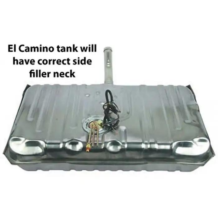 Fuel Gas Tank 17 Gallon for Chevy El Camino GMC Caballero w// Filler Neck