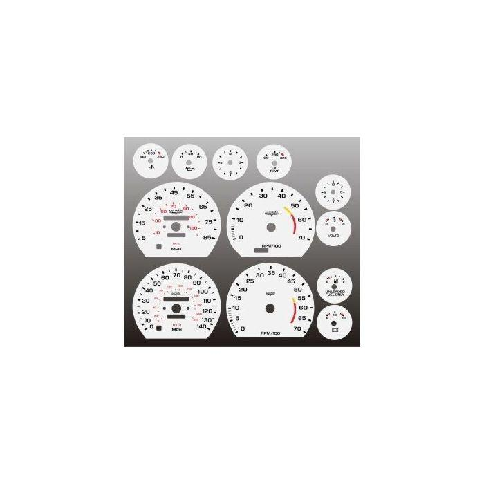 1964 Ford Galaxie Dash Instrument Cluster White Face Gauges