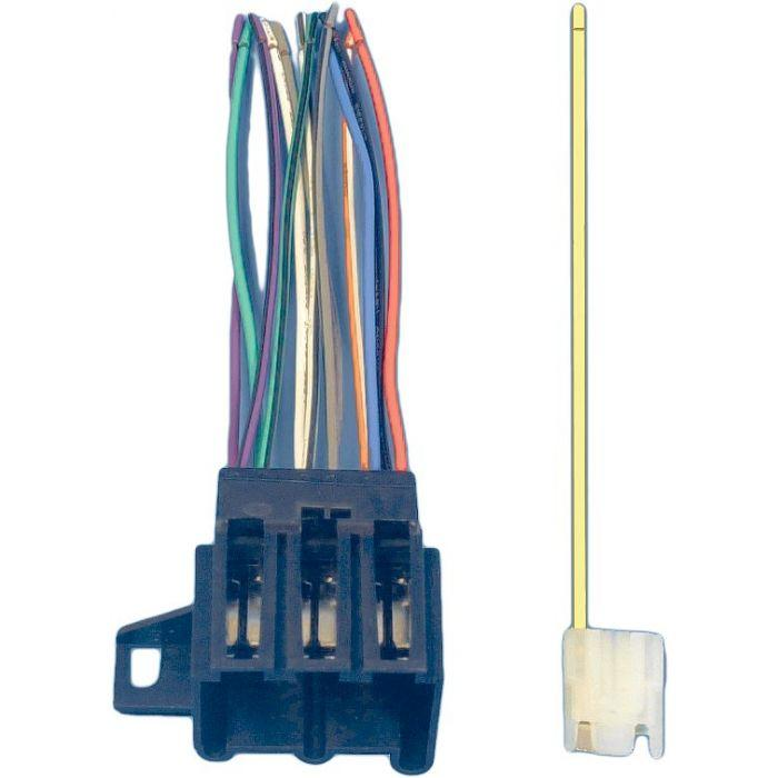 aftermarket stereo wiring harness 1977 1989 corvette radio wiring harness and connector  1977 1989 corvette radio wiring harness