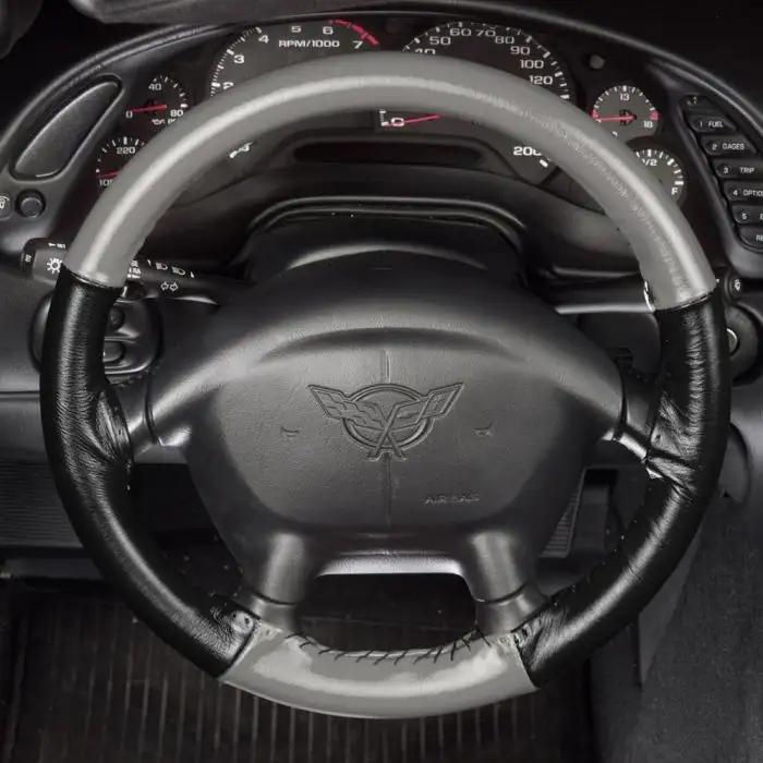 Chrysler Leather Steering Wheel Cover Custom Fit All Models 15 Colors Wheelskins