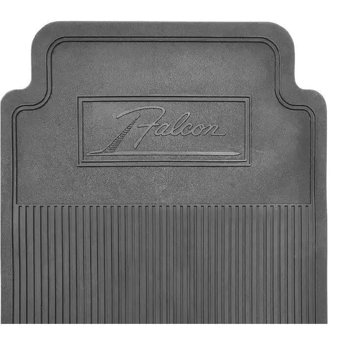Ford Falcon And Mercury Comet Falcon Bird Script Rubber Floor Mat Black 4 Piece Set