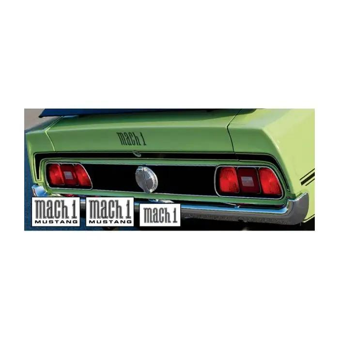 1971 1972 Mustang Mach 1 Trunk Stripe With Fender And Trunk Names