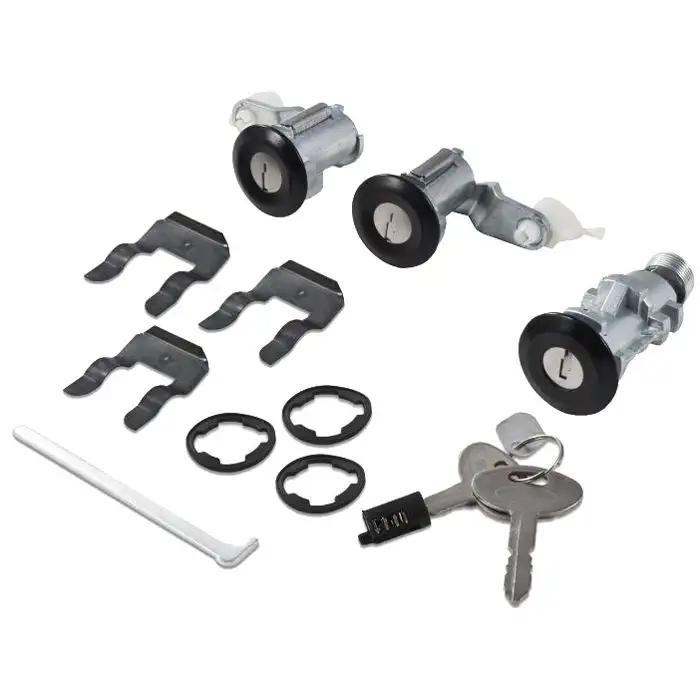 New PONTIAC GM OEM Chrome Doors//Trunk Lock Key Cylinder Set With Keys To Match