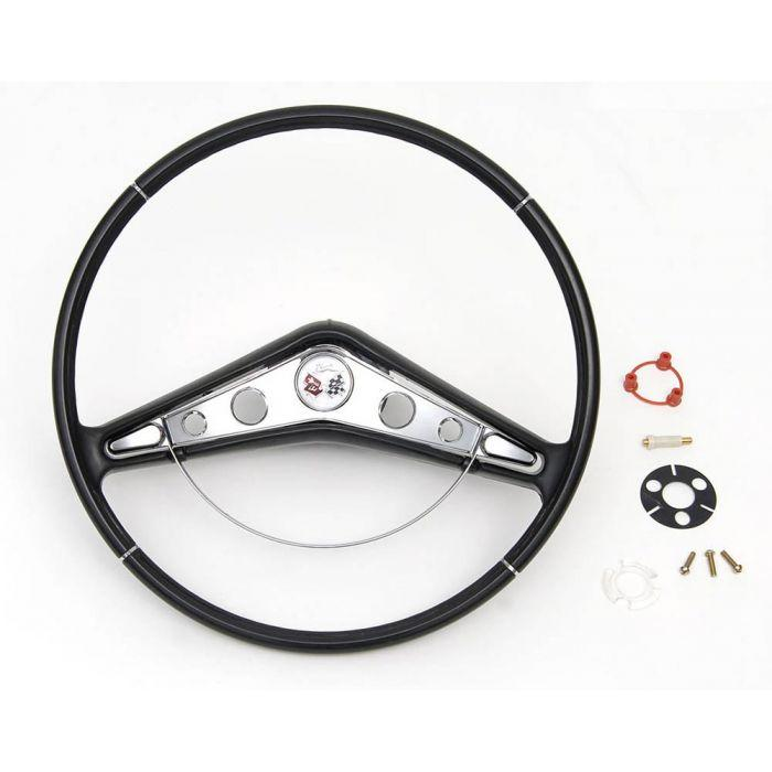 1955 chevy steering column diagram chevy steering wheel assembly  1959 1960 impala style  1955 1957  chevy steering wheel assembly  1959