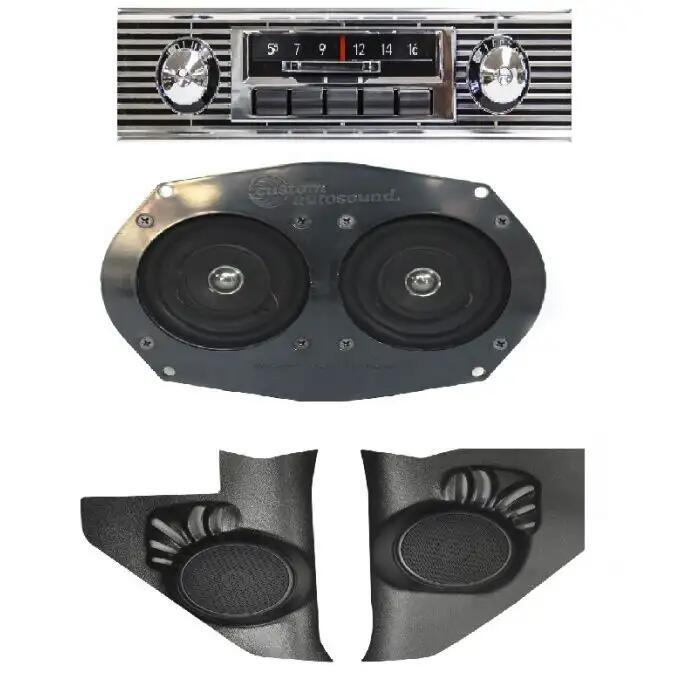 One Fifty Nomad 300 watt Slidebar AM FM Car Stereo//Radio Custom Autosound Stereo compatible with 1955-1956 Bel Air Two Ten