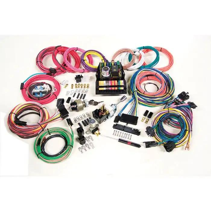 chevelle custom car wiring harness kit, modular panel, 15-circuit ... custom car wiring harness custom engine wiring harness ecklers