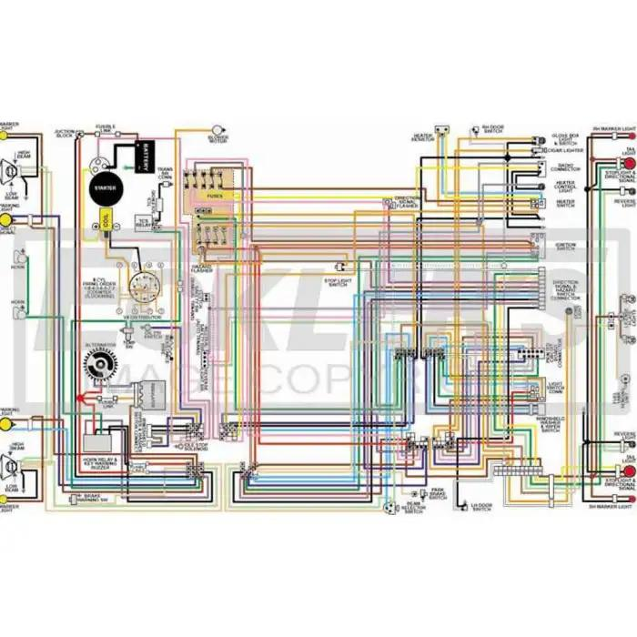gmc truck color laminated wiring diagram