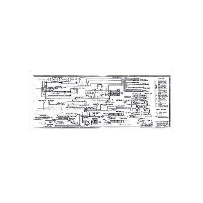 1957 Ford Thunderbird Wiring Diagram, Large 34 x 14 Foldout | 1964 Thunderbird Stereo Wiring Diagram |  | MAC's Auto Parts