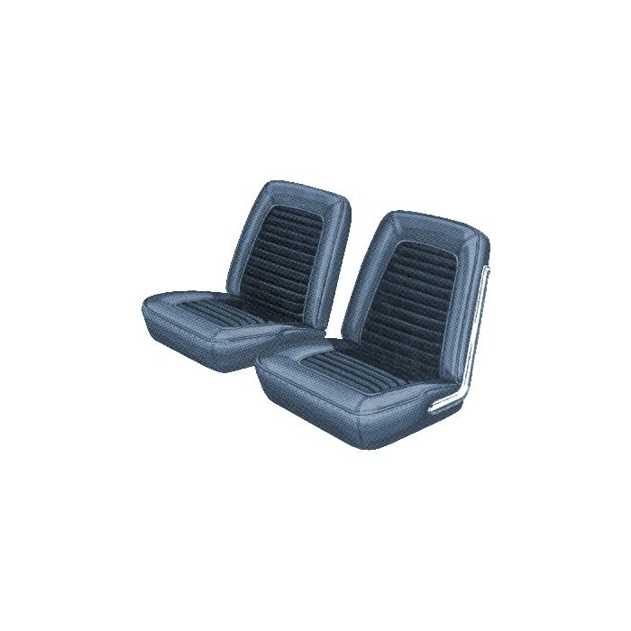 Super 1966 Mustang Coupe Standard Interior Front Bucket And Rear Bench Seat Cover Set 2 Tone Blue L 2287 And L 2946 Ibusinesslaw Wood Chair Design Ideas Ibusinesslaworg