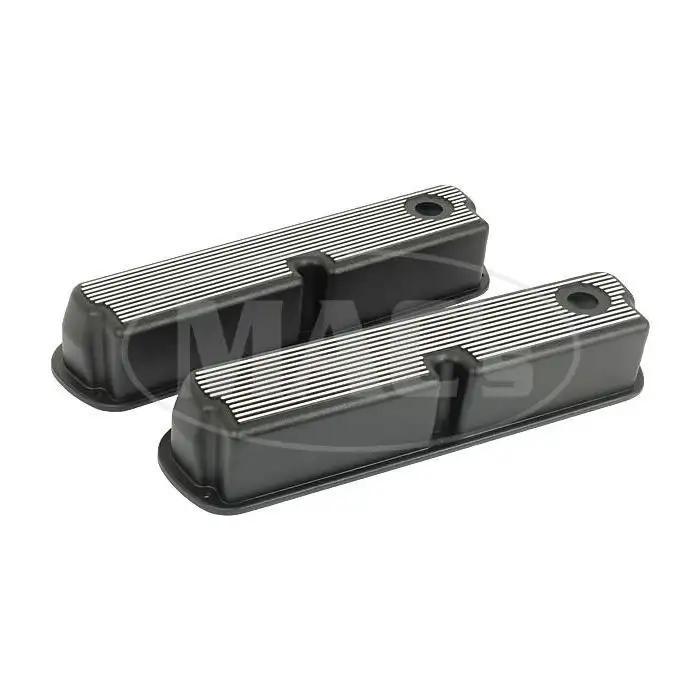The Parts Place Pontiac Black Aluminum Valve Covers