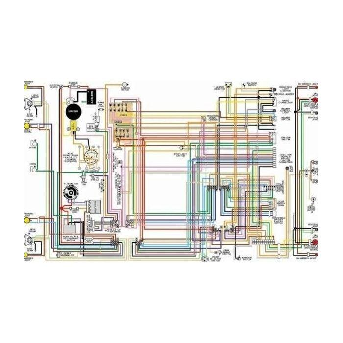 Ford Mercury Comet Color Laminated Wiring Diagram, 1961-1967