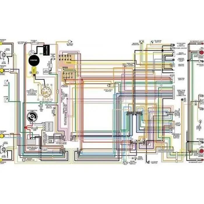 Firebird Color Laminated Wiring Diagram 1967 1981