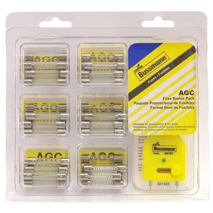 AGC Fuse Kit 60 Pieces With Fuse Tester And Fuse Removal Tool  Caballero Fuse Box on
