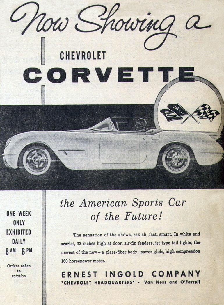 1953 Corvette Ad