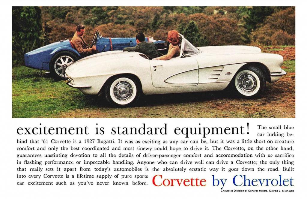 1961 Corvette Ad