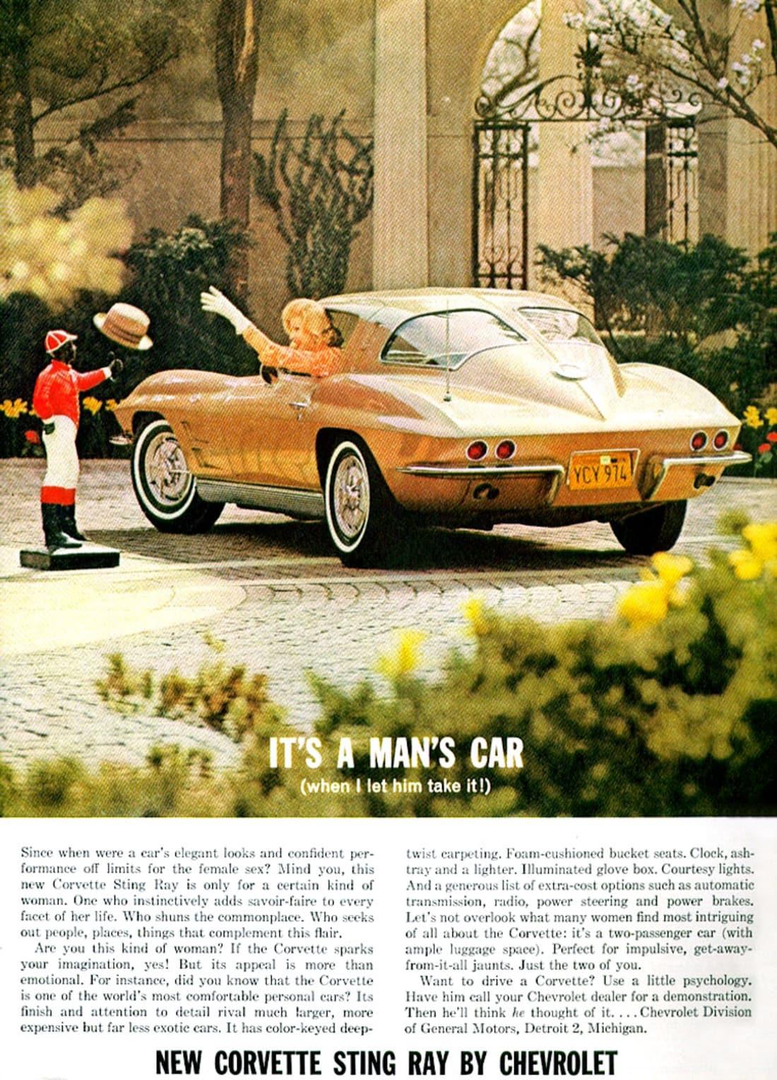 1963 Corvette Ad