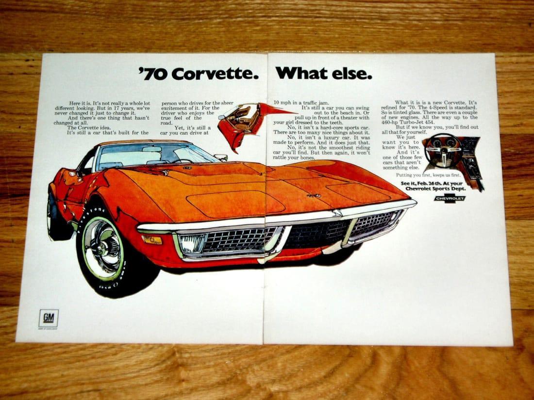1970 Corvette Ad