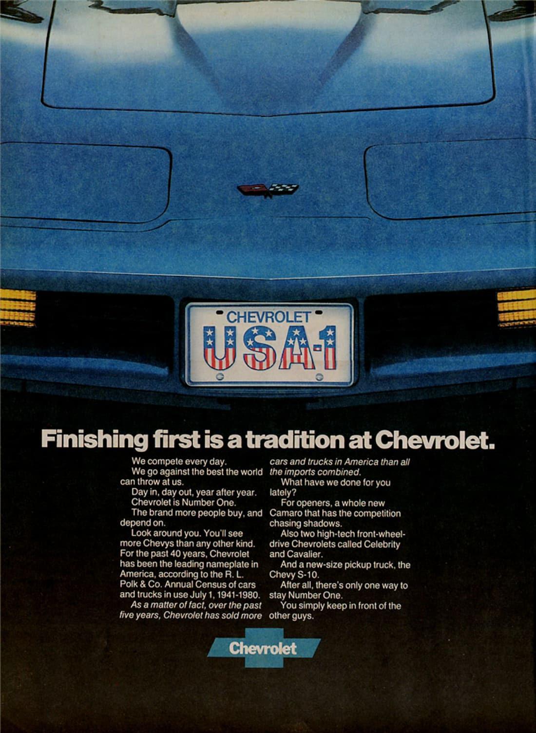 1982 Corvette Ad