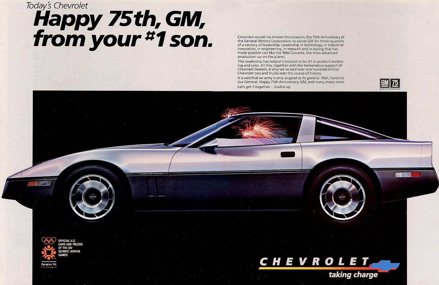 1984 Corvette Ad