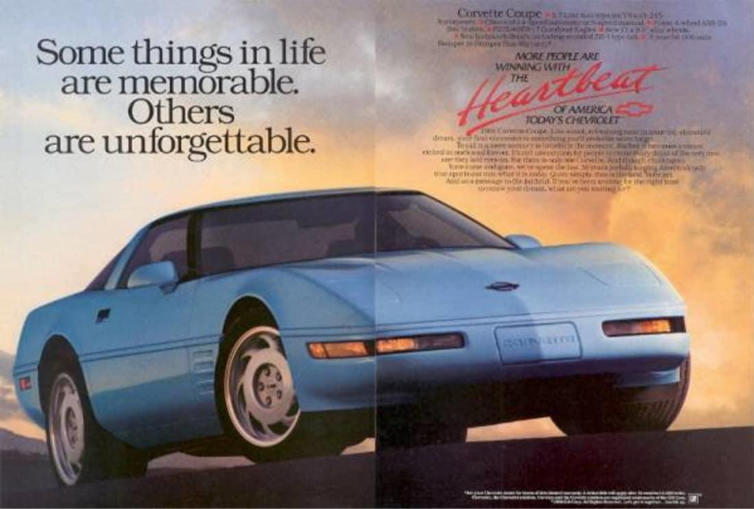 1991 Corvette Ad