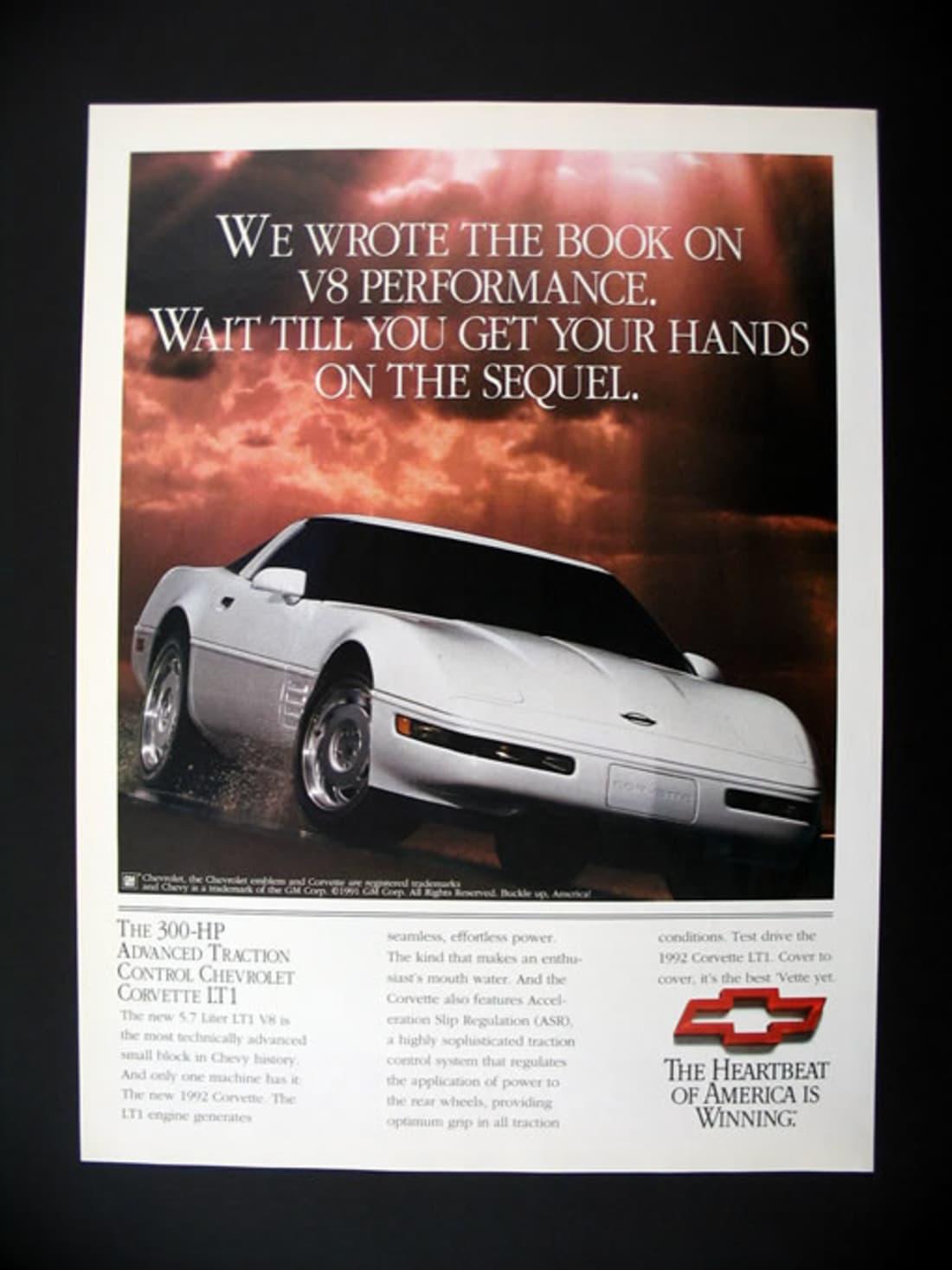 1992 Corvette Ad