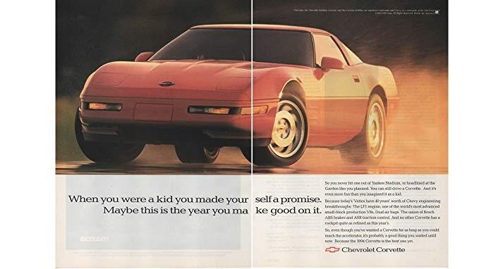 1994 Corvette Ad